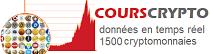 Cours des crypto monnaies live EUR, USD et+ | COURSCRYPTO.COM